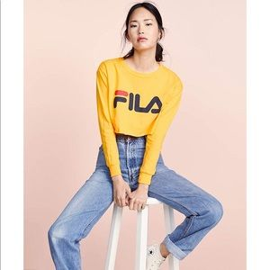 2c984c0961d Fila Tops | Golden Yellow Long Sleeve Crop Top | Poshmark